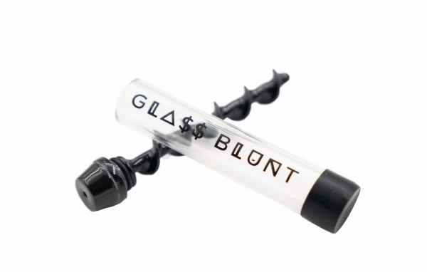 Glass blunt ceramic spiral black version