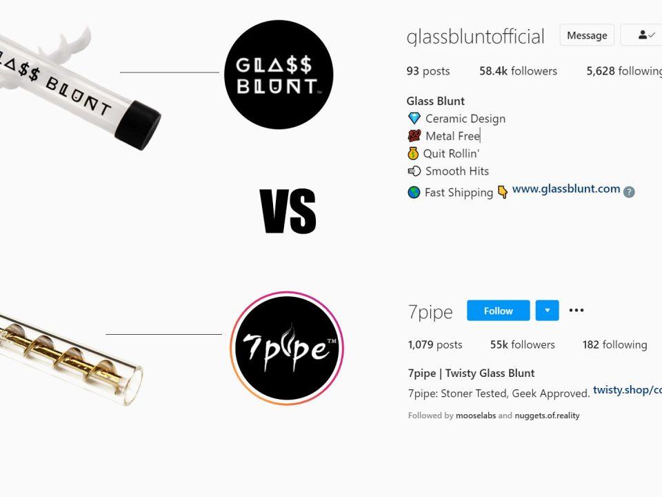 ceramic spiral vs twisty glass blunt pipe