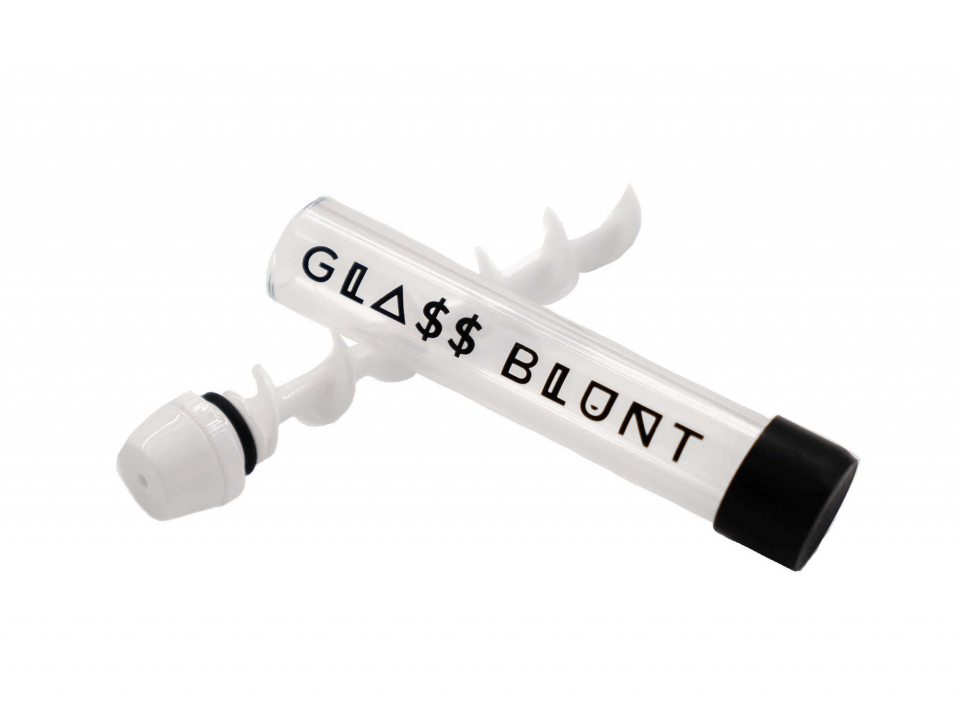 white ceramic glass blunt pipe