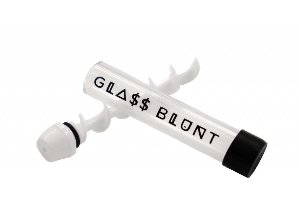 white ceramic glass blunt pipe